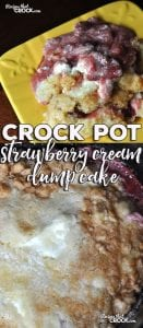 Whether you have fresh or frozen strawberries, you can whip up this amazing Crock Pot Strawberry Cream Dump Cake! Your house will smell amazing and your taste buds will be doing a happy dance!