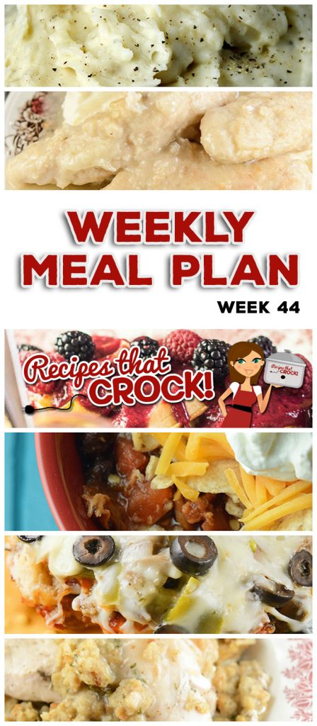 This week's weekly menu features Crock Pot Teriyaki Pork Loin, Crock Pot Sweet & Tangy Baked Beans, Crock Pot Chicken Stuffing Casserole, Crock Pot Fresh Green Beans, Crock Pot Chicken Tortilla Soup, Crock Pot Homestyle Chicken, Crock Pot No-Boil Mashed Potatoes, Crock Pot Pizza Bake, Crock Pot Sweet and Tangy Meatballs, Crock Pot Peachy Dump Cake and Crock Pot Fresh Berry Syrup.