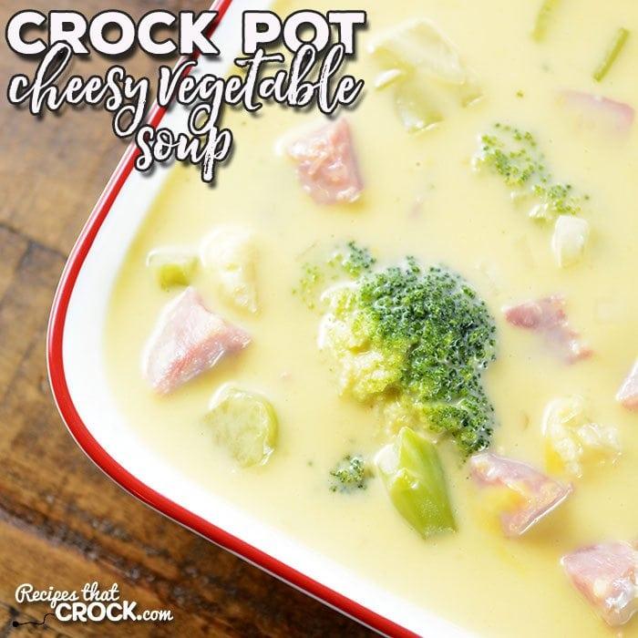 225 Vegetarian Crock Pot Recipes: Crock Pot Cheesy Vegetable Soup