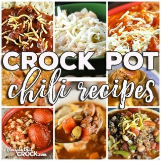 This week for our Friday Favorites we have some yummy Crock Pot Chili Recipes like Crock Pot Three Bean Pork Chili, Crock Pot Double Meat Chili, Crock Pot White Chicken Chili, Crock Pot Chili Vegetable Ranch Hand Soup, Easy Crock Pot Chili, Crock Pot Hamburger Chili, Meat Lover's Crock Pot Chili, Crock Pot Chili and Crock Pot Chili Soup.