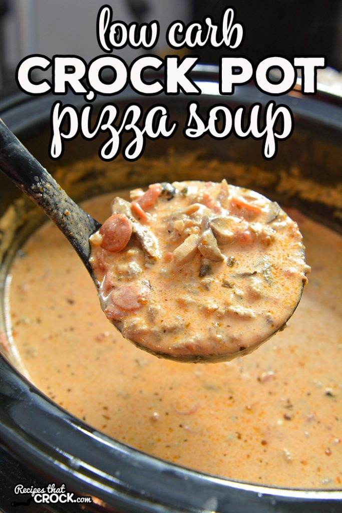 Are you looking for a delicious soup that kids of all ages will love? Our creamy Low Carb Crock Pot Pizza Soup is so flavorful and filling! Add your favorite toppings to make it your own.
