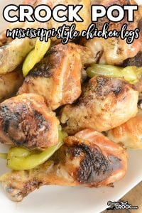 Are you looking for a delicious alternative to BBQ Chicken Legs? Our Crock Pot Chicken Legs {Mississippi Style} are incredibly flavorful, fall apart tender and so perfectly charred they'll swear they were grilled. Shh! We'll never tell.