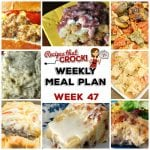 Meal Planning: Weekly Crock Pot Menu 47