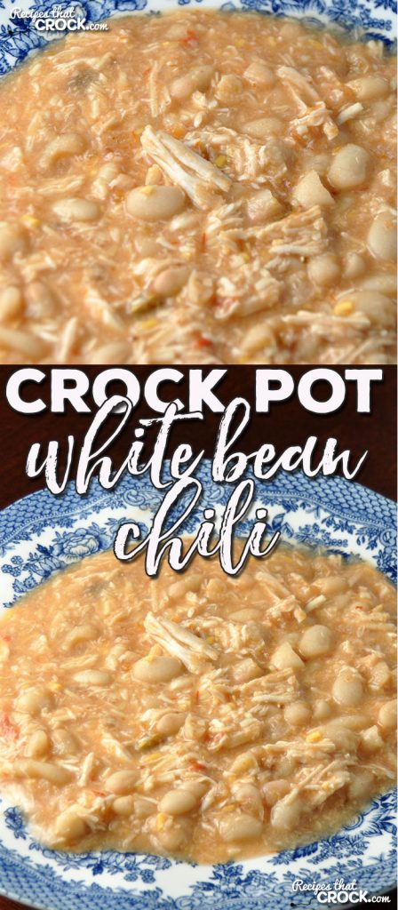 If you are looking for a new, delicious chili recipe that is super delicious, I have a treat for you! This Crock Pot White Bean Chili is awesome!