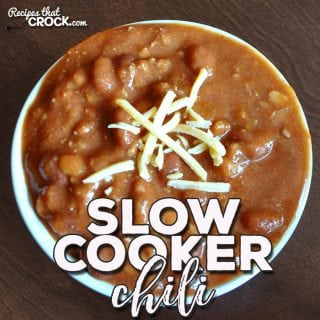 This delicious Slow Cooker Chili was submitted by a reader, Julie Wetzel. We tried it out with some friends of ours, and it was a huge hit!