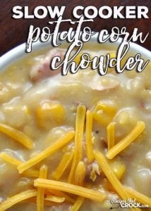 Easy, hearty and delicious. Those three words are the perfect description of this amazing Slow Cooker Potato Corn Chowder! Yum!