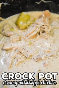 Do you love Crock Pot Mississippi Chicken? Our Creamy Crock Pot Mississippi Chicken is a twist on one of the most popular crock pot chicken recipes on Recipes That Crock!
