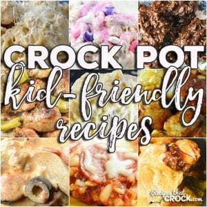 This week for our Friday Favorites we have some awesome Crock Pot Kid-Friendly Recipes for you including Crock Pot Chicken Legs {Mississippi Style}, Low Carb Crock Pot Pizza Soup, Crock Pot Spaghetti Squash and Cheese, Crock Pot Cheesy Chicken Spaghetti, Crock Pot Pizza with Mac and Cheese Crust, Crock Pot Sloppy Joe Casserole, Crock Pot Pizza Tater Tot Casserole, Princess Crock Pot Candy and Crock Pot No Bake Cookies!