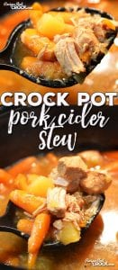 If you want a switch from your normal stew recipes, you do not want to miss this Crock Pot Pork Cider Stew! It is easy to throw together and has an awesome flavor!