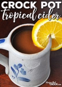 This Crock Pot Tropical Cider is super simple to throw together and is like a mini-vacation in a cup! Everyone asks for a refill when this is around!
