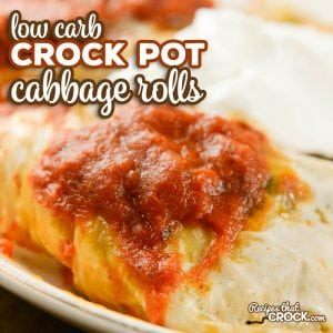 These Crock Pot Cabbage Rolls are packed with flavor and simple to put together. Everyone always asks for this recipe! Added bonus? It is a great low carb slow cooker recipe.