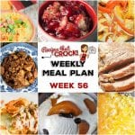 Meal Planning: Weekly Crock Pot Menu 56