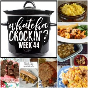 Cris from Recipes that Crock is sharing Crock Pot Cheesy Chicken Chowdown.