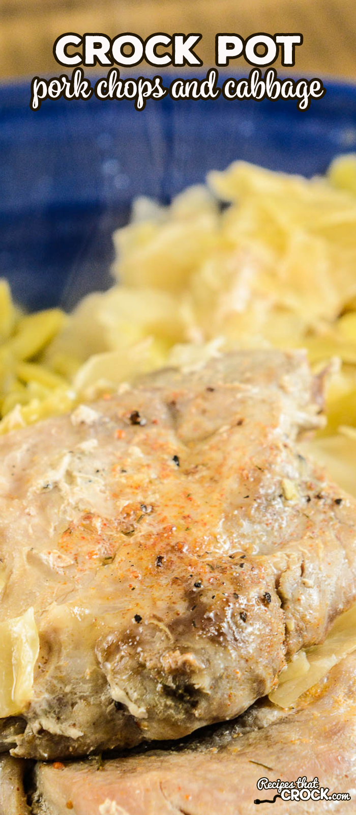 OurCrock Pot Pork Chops and Cabbage is an delicious family meal that is so simple to make with just a handful of ingredients. #LowCarb #CrockPot #FamilyMeal #PorkChops