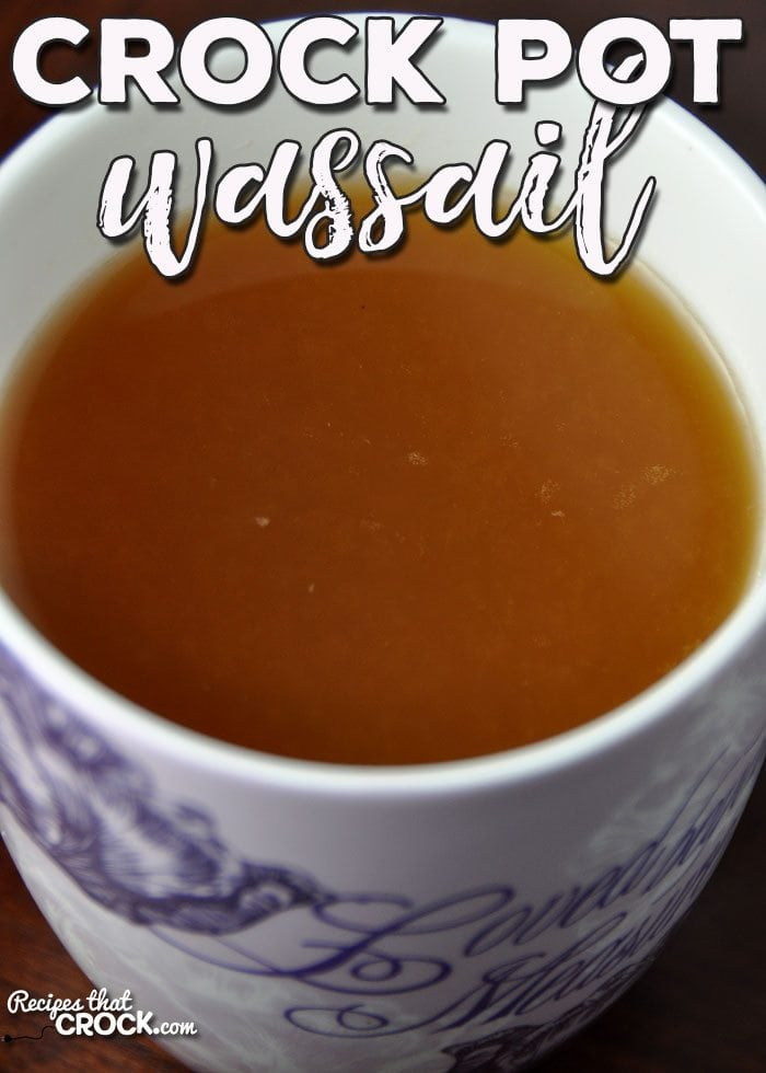 You don't wanna miss this Crock Pot Wassail recipe. It is divine! It tastes just like a delicious slice of apple pie and is the perfect way to stay warm!