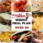Meal Planning: Weekly Crock Pot Menu 60