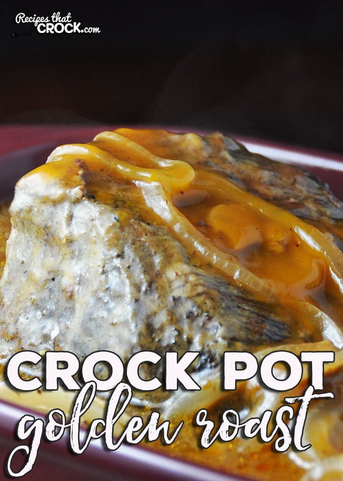 If you love an easy and delicious recipe, then you don't want to miss this Golden Crock Pot Roast. Your friends and family will love the wonderful flavor of the roast and the gravy!