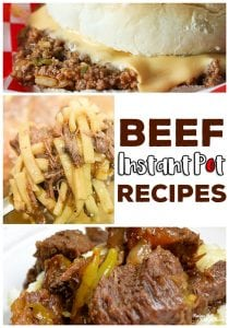 Our favorite beef easy instant pot recipes: Instant Pot Tavern Sandwiches, Beef and Noodles, Butter Beef and much, much more!