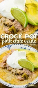 This Crock Pot Chile Verde Recipe has become a family favorite in our house. This slow cooker recipe can be served up a stew or spooned into tortillas for a delicious spin on taco night.