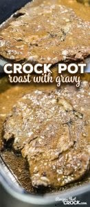 Are you looking for a foolproof way to make pot roast? Our Crock Pot Roast with Gravy is a super simple way to make an amazing roast in your slow cooker every time!