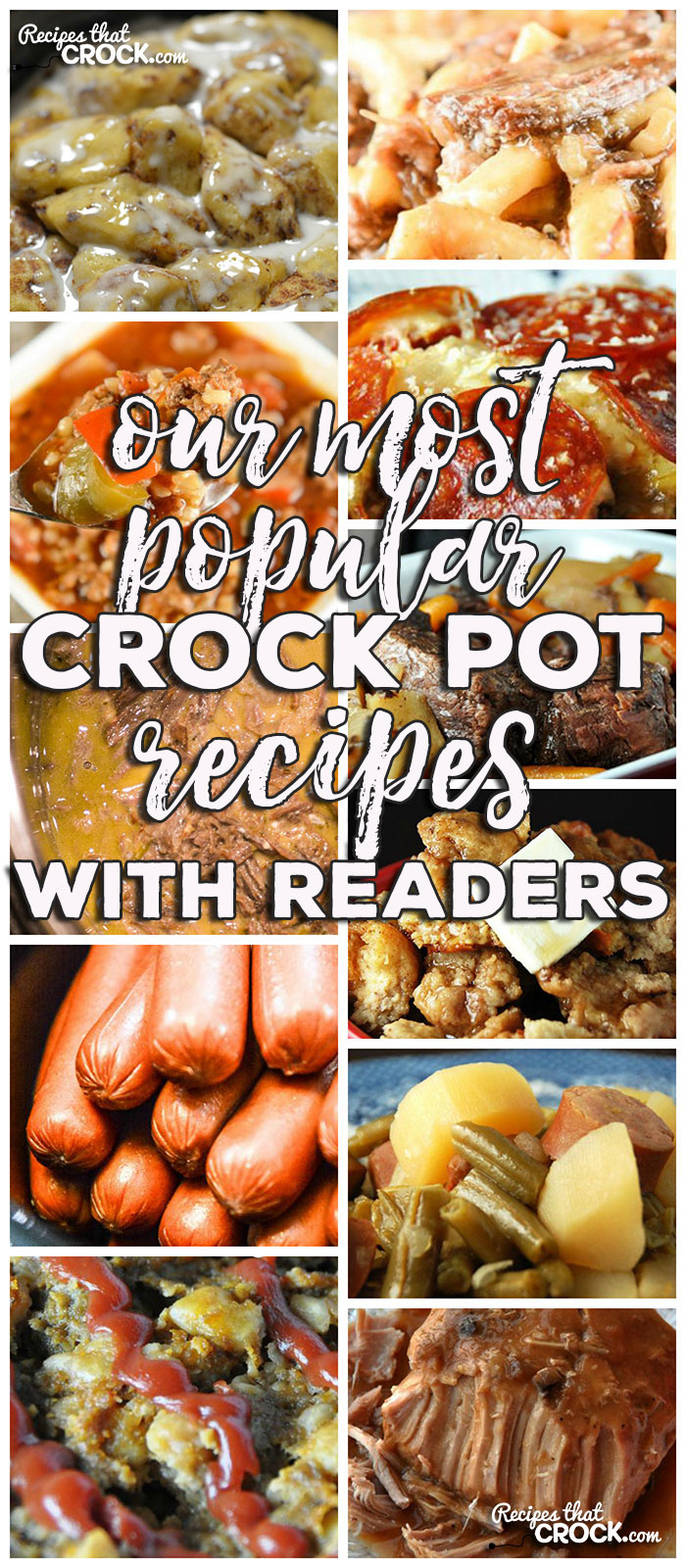 This week for our Friday Favorites we have Our Most Popular Crock Pot Recipes with Our Readers like Cooking Hot Dogs in Bulk in a Crock Pot, Slow Cooker Beef Noodles, Crock Pot Ham Broccoli Cheese Casserole, Slow Cooker French Toast Casserole, Creamy Mississippi Instant Pot Roast, Crock Pot Old Fashioned Meatloaf, Crock Pot Mississippi Chicken Thighs, Crock Pot Bourbon Chicken, Crock Pot Chicken and Stuffing Casserole, Crock Pot Crustless Pizza, Crock Pot Pork Loin with Gravy, Crock Pot Chicken Drumsticks, Slow Cooker Stuffed Green Pepper Soup, Crock Pot Cinnamon Roll Casserole, The Perfect Crock Pot Roast and Crock Pot Sausage, Green Beans and Potatoes.