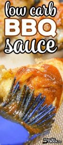 Are you looking for a really good Low Carb BBQ Sauce? This sweet and tangy sauce is the BEST Low Carb BBQ Sauce I have had! The smoky sweet flavor is the perfect BBQ sauce alternative on BBQ Chicken or Ribs.