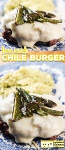 Are you looking for a low carb meal idea that your whole family will enjoy? Our Low Carb Chile Burger Recipe is a favorite in our Camper Kitchen! Serve it up with a side our guacamole for a delicious meal or with a bun for your carb loving friends!