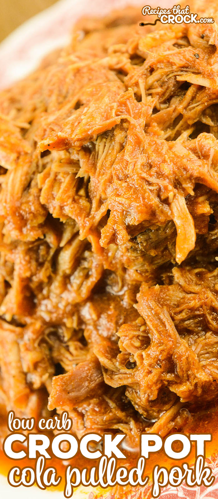 Are you looking for a simple way to make incredible pulled pork every time? Our Crock Pot Cola Pulled Pork is so easy to throw together for family dinner! This recipe is easily made low carb (or not if you prefer) AND the leftovers freeze well.