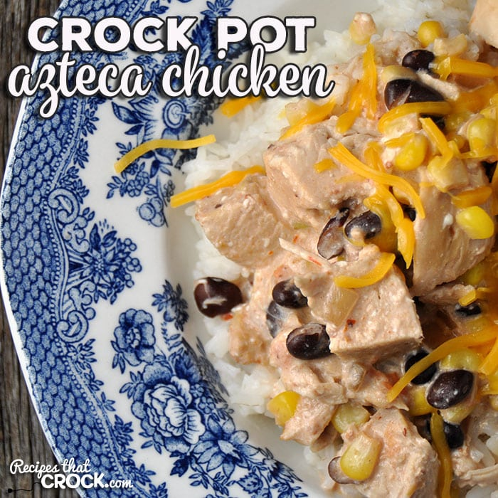 Oh my folks! Do I have a treat for you?! This Crock Pot Azteca Chicken is going to immediately show up on your go-to recipe list! It is easy and delicious!