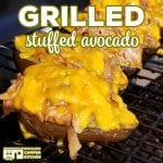 These Grilled Stuffed Avocados are a great treat to make with our Crock Pot Cola Pulled Pork  or Crock Pot BBQ Cola Ribs leftovers!