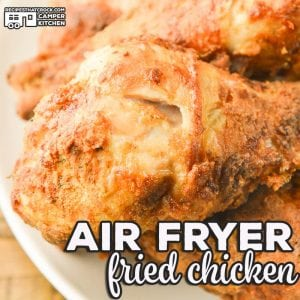 We love this recipe for Air Fryer Fried Chicken. Our chicken always comes out perfectly crispy and tender every single time. Using an air fryer is a fool proof way to get amazing fried chicken with very little mess compared to traditionally fried chicken.