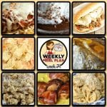 This week's weekly menu features Crock Pot Chicken Parmigiana, Crock Pot Italian Loose Meat Sandwiches, Crock Pot Beefy Cheesy Taco Soup, Golden Crock Pot Roast, Crock Pot Cheesy Chicken Spaghetti, Crock Pot Pork Chop Rice Casserole, Crock Pot Easy Special Pot Roast, Crock Pot Bacon Wrapped Chicken Bites, Crock Pot Chocolate Pudding and Crock Pot Cheesy Ham Hashbrown Casserole.