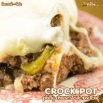 Do you love Philly Cheese Steaks? Our Crock Pot Philly Cheese Steak Meatloaf has the flavor of your favorite sandwich in a low carb meatloaf!