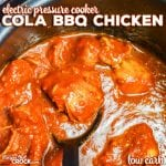 Electric Pressure Cooker Cola BBQ Chicken (Low Carb)