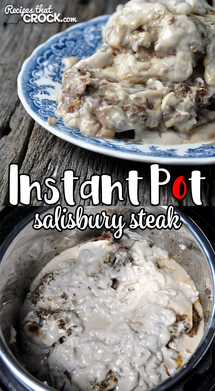 I've loved Salisbury Steaks since I was a kid. I never knew I could make them so easily in my Instant Pot! So, of course, I had to share with you this Instant Pot Salisbury Steak recipe!