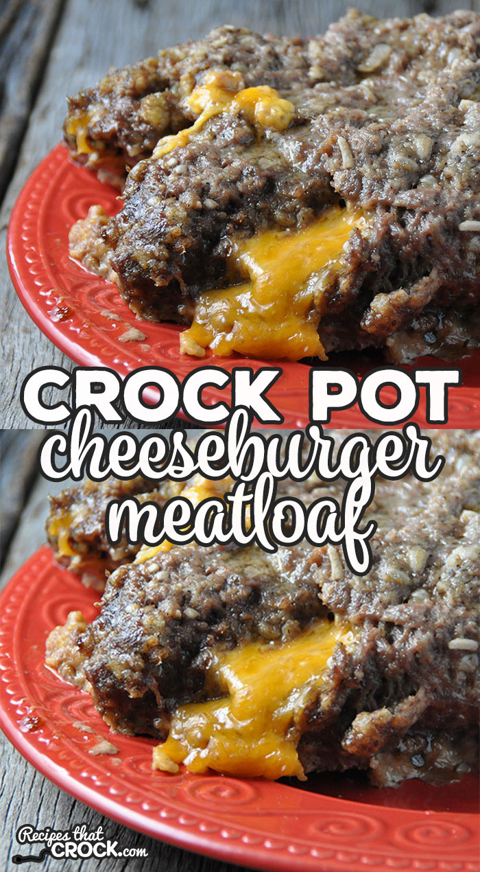This recipe combines two of my favorite things! When you put together a cheeseburger and meatloaf, you get this delicious Crock Pot Cheeseburger Meatloaf!