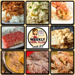 This week's weekly menu features Slow Cooker Sloppy Joe Chicken, Crock Pot Chicken Chile Rice Casserole, Crock Pot Chicken Taco Soup, Creamy Mississippi Instant Pot Roast, Cheesy Stuffed Sloppy Joe Meatballs, Low Carb Crock Pot BBQ Cola Ribs, Crock Pot Easy Pork Roast, Crock Pot Strawberry Cream Cake, Crock Pot Cheesy Beefy Bean Dip and Slow Cooker Southwest Breakfast Casserole.