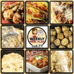 This week's weekly menu features Crock Pot BBQ Ranch Chicken Legs, Crock Pot Steak Tacos, Crock Pot Meat Lover's Chili, Crock Pot Lemon Pepper Pork Chops, Barilla® Spaghetti with {Crock Pot} San Marzano Tomato Meat Sauce, Crock Pot Chicken Stuffing Casserole, Perfect Instant Pot Roast (Perfect Crock Pot Roast or Perfect Pot Roast), Sugar Free Crock Pot Carrot Cake (Low Carb), Crock Pot Buffalo Meatballs and Crock Pot Cranberry Orange Roll Casserole.