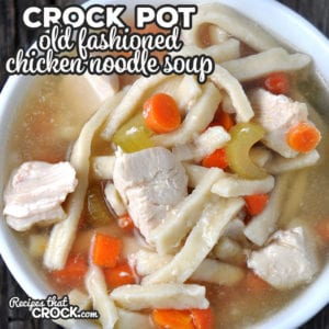 Do I have a treat for you today! This Old Fashioned Crock Pot Chicken Noodle Soup takes a little bit of prep work, but gives you a whole lot of delicious soup!