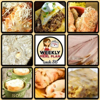 This week's weekly menu features Crock Pot Mozzarella Chicken and Rice, Crock Pot Beefy Tostada Pie, Crock Pot French Onion Soup, Slow Cooker Red Beans and Sausage, Crock Pot Cola Pulled Pork, Crock Pot Italian Bacon Chicken Tenders, Crock Pot Low Carb Holiday Ham, Crock Pot Blondies, Crock Pot Chicken Wings – BW3 Copycat recipe and Crock Pot Glazed Breakfast Bars.
