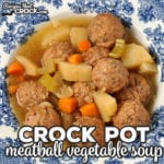 If you are looking for a super simple recipe that can crock all day long and tastes delicious, then you don't want to miss this yummyCrock Pot Meatball Vegetable Soup!