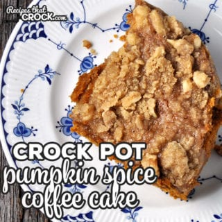 Crock Pot Pumpkin Spice Coffee Cake
