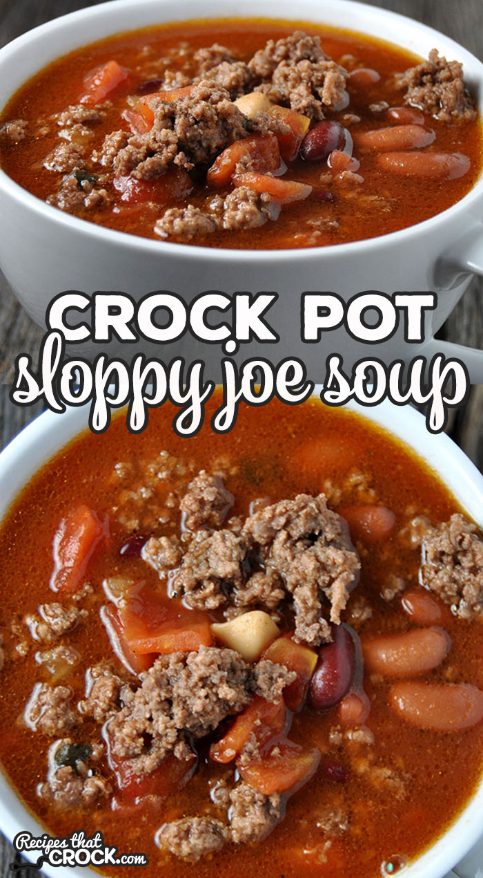 I love this Crock Pot Sloppy Joe Soup recipe! It is not only different from anything I've had before, it is easy to make and so hearty and delicious!