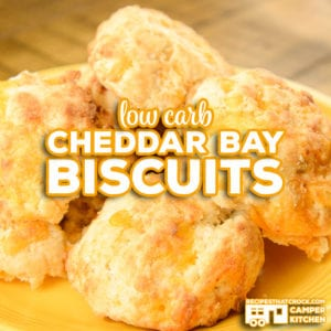Are you looking for a low carb biscuit? These Low Carb Cheddar Bay Biscuits are our favorite low carb dinner bread AND they are a great air fryer or ninja foodi recipe!