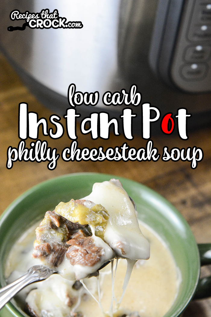 This Electric Pressure Cooker Philly Cheesesteak Soup is a super easy keto friendly low carb soup recipe that everyone loves! This recipe will work in your Instant Pot, Ninja Foodi or Crock Pot Express 6-6.5 quart pressure cookers.