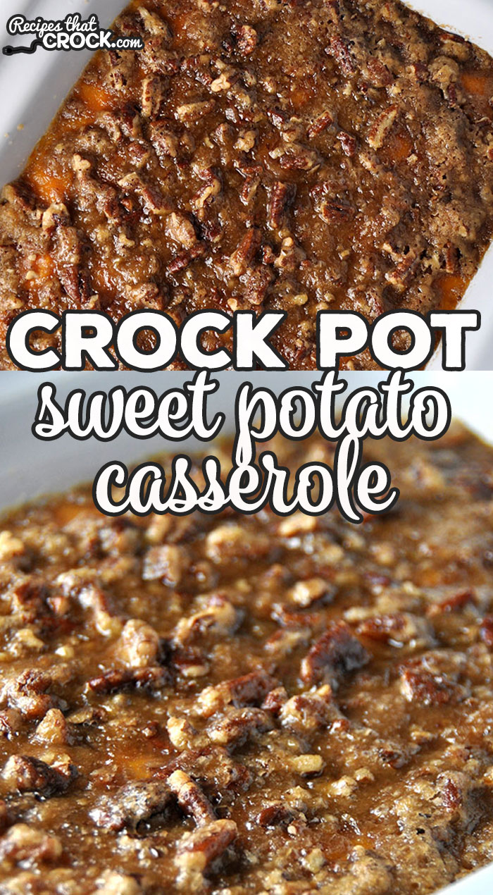 Here it is folks! The recipe you're holiday tables have been waiting for! This Crock Pot Sweet Potato Casserole recipe is divine!