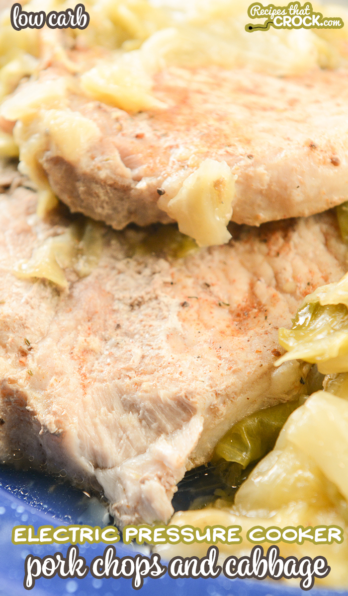 Are you looking for a great Ninja Foodi recipe or something quick to whip up in your Instant Pot or Crock Pot Express? Our Electric Pressure Cooker Pork Chops and Cabbage is a super simple (low carb) recipe that everyone loves!