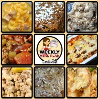 This week's weekly menu features Instant Pot Salisbury Steak, Crock Pot Creamy Mississippi Beefy Mac, Crock Pot Hamburger Soup, Crock Pot Cheesy Chicken Cabbage Casserole (Low Carb), Crock Pot Ham and Cheese, Crock Pot Meatball Sub Casserole, Easy Instant Pot Roast, Crock Pot Pecan Pie Cake, Easy Crock Pot Cinnamon Cider and Crock Pot Blueberry French Toast.