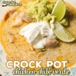 We make this Crock Pot Chicken Chile Verde Soup all the time! Flavorful and savory, this low carb soup recipe is one of our favorites!