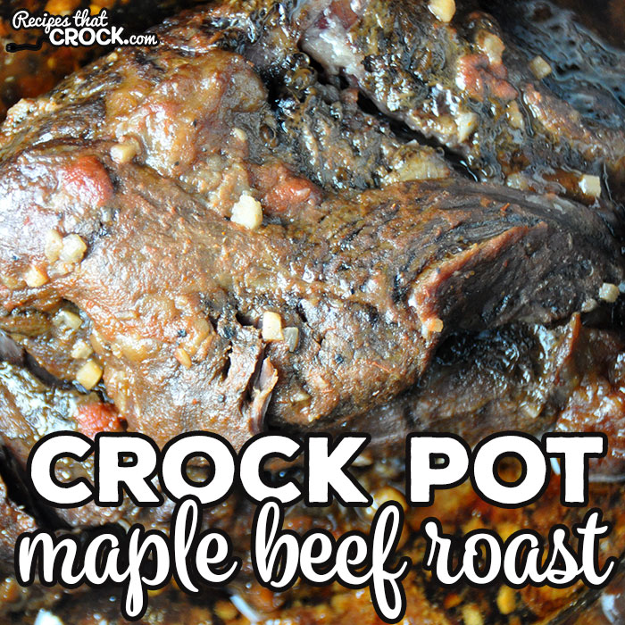 This Crock Pot Maple Beef Roast is so incredibly simple and delicious! It marinades overnight make it super tender. You are gonna love it!